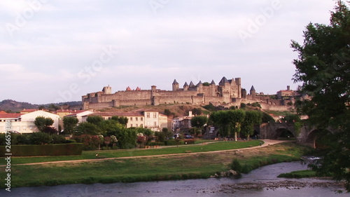 Panorama of a castle from the countryside