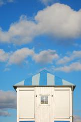 Dach blau-weiß