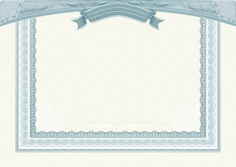 Diploma or certificate template with complex guilloche patterns
