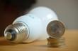 Geld und Energiesparlampe