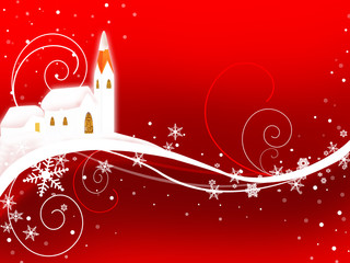 Christmas Illustration red