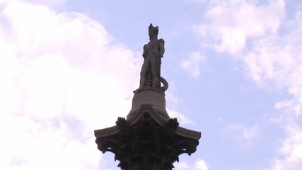 Footage representing a beautiful statue during a sunny day