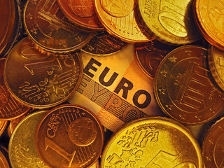 Euro Money coins and note