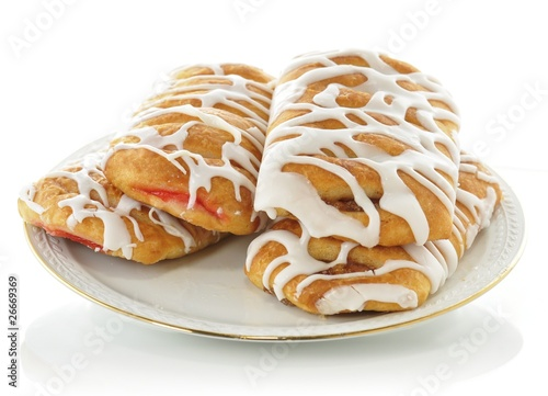 apple and strawberry danish