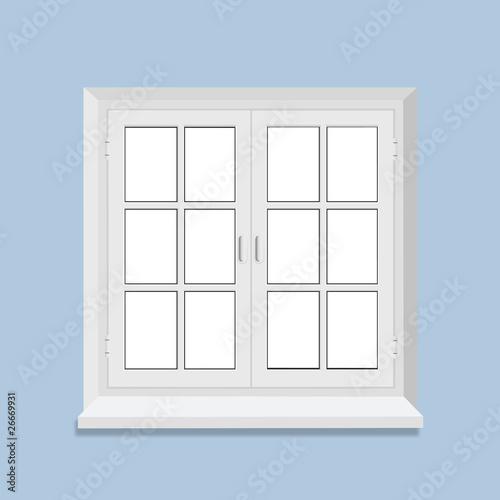 Fenetre fermee petits carreaux fichier vectoriel libre - Fenetre pvc petit carreaux ...