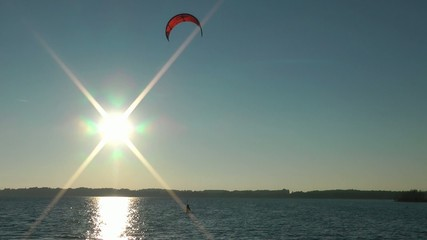 Kite Surfing the Water and the Sunlight