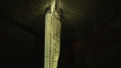 Close up of a stalagmite in a cave