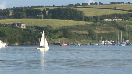 Pamorama of a marina in Ireland
