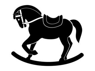 wooden war horse vector