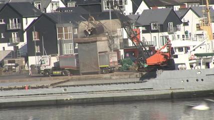Ship Unloading Grain