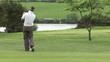 Professional golfer doing his final hole