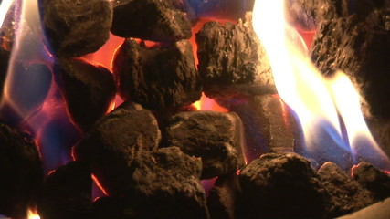 Close up of a chimney fire