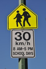 Thirty km per hour sign