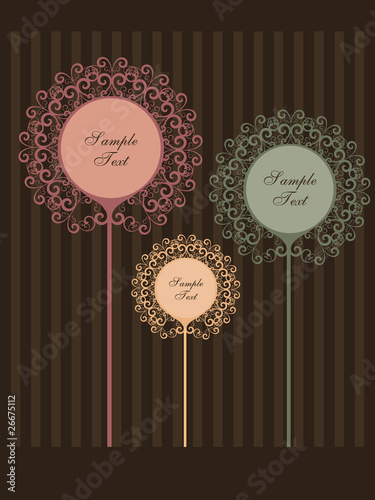 abstract vintage background with place for text