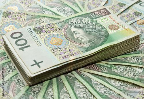 Stack of 100's polish zloty