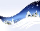 Fototapety Christmas landscape