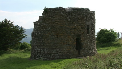 Ruins of a tower in Ireland