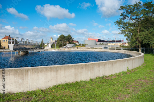 Foto op Plexiglas Kanaal waste water treatment basin