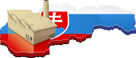 Slovaquie et usine délocalisée (détouré)