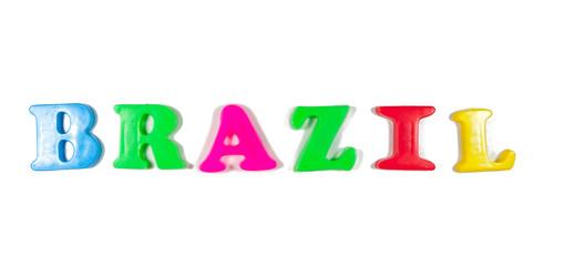 brazil written in fridge magnets
