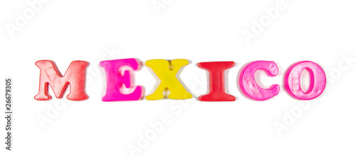mexico written in fridge magnets