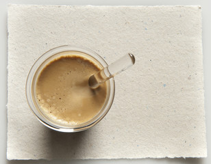 caffè dall'alto