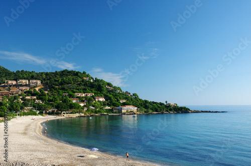 canvas print picture tarco plage de Corse