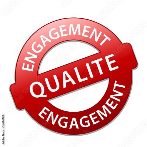 Tampon ENGAGEMENT QUALITE (qualité prix 100% garantie publicité)