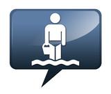 Speech bubble shaped icon