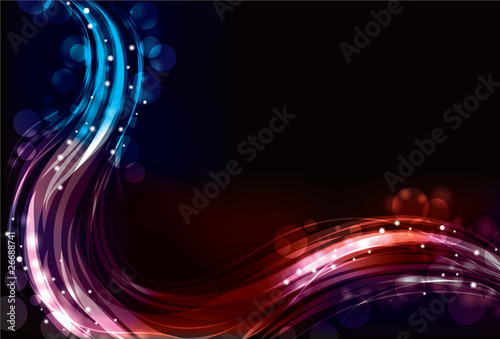 Abstract neon spectrum light effect background