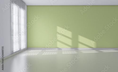 3d interno stanza vuota da arredare