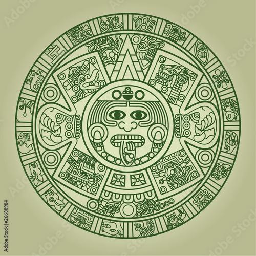 Stylized Aztec Calendar - 26688984