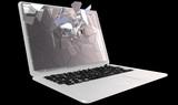 Cybercrime - laptop PC crash poster