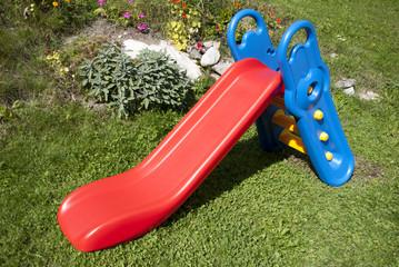 Blue red slide for child