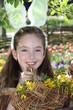 Ein Blumenkorb zu Ostern