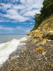 seacoast rocks and sky