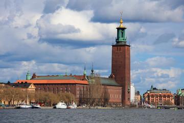 Stadshuset or Town Hall of Stockholm in Sweden