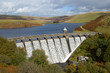 Leinwanddruck Bild - Craig Goch reservoir with water overflowing, Elan Valley, Wales.