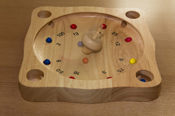 wooden roulette