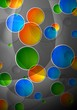 Beautiful abstract background with multicolored circles - eps 10