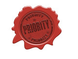 Priority wax seal poster