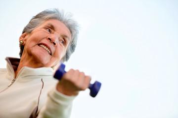 Elder woman exercising