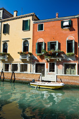 Venice canal and house