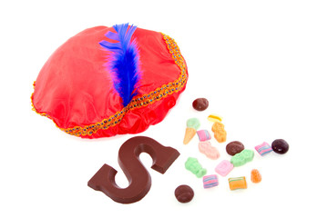 Dutch Sinterklaas celebration with chocolate and  gingernuts iso