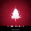 Card with stylized Christmas tree