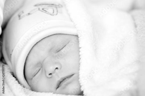 Newborn baby is sleeping