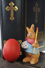 Easter egg and the rabbit