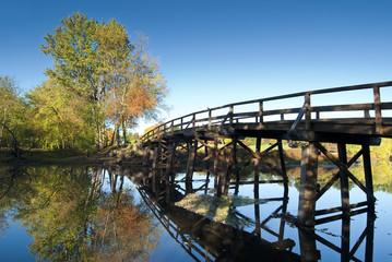 Old North Bridge in Concord, MA. USA