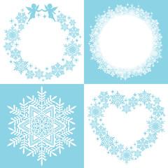 雪 結晶 リース ドイリー