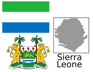 Sierra Leone flag national emblem map